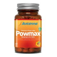 POWMAX 90 Natural Anti Fatigue Tablets Ginseng Root / Royal Jelly / Bee Pollen / Rosehip/ Vitamin C Supplement