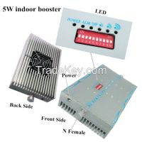 Dual band high power 2W indoor mobile signal repeater, 2G 4G GSM DCS 1800 MHz celluar amplifier booster