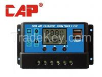 Solar pwm controller with light & timer control for street light or dc load