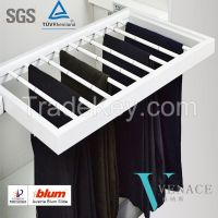 Wardrobe Accessories Pull Out Trousers Racks with Soft Closing