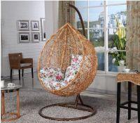 Indoor Real Rattan Swing Chair hanging chair Patio Swings