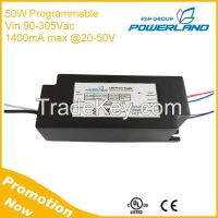 50W Programmable 0-10V/PWM Clock Dimming Led Driver