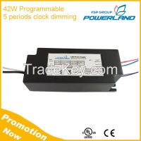 42W Programmable 0-10V/PWM Clock Dimming Led Driver