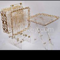 Acrylic coffee table  set