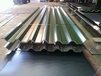 Galvanized prepainted profiled Metal Roof Sheet / Waved style steel sheeting