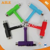 Colorful Multifunctional Skateboard T Tool For Plastic Longboard