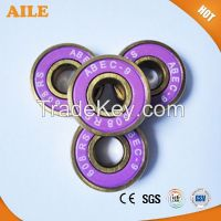 Free Shipping ABEC 9 High Performance High Speed Golden Color 608rs Bearing