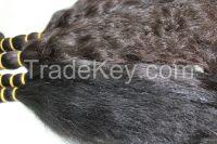 Naturally coarse Uzbek hair