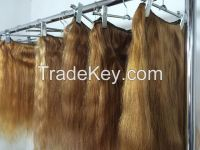 Professionally bleached light brown hair