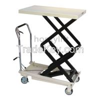 CE china supplier offers 500 kg cheap hand scissor lift wheel with han