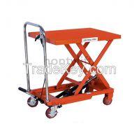 CE china supplier offers 1000kg cheap scissor lift trolley hydraulic w