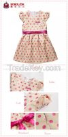 cute girls latest dress designs with bow waist tie factory high qualit