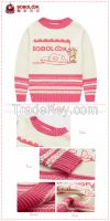 2015 hot selling brand long sleeve girls baby sweater design
