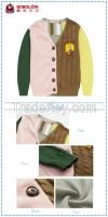 Stiching color sweater designs fashion winter clothes for children kid