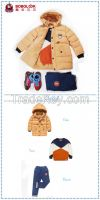 3 pcs kids clothes fashion design down coat sweater and cotton jeans a