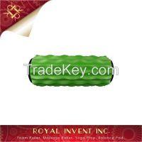 Green Massage Ribbed Foam Roller