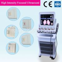 Hifu high intensity focused ultrosound face lift and wrinkle removal machine