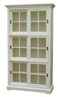Bookcase with Six Sliding Doors