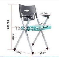 Stackable and Moveable Office Chairs with Foldable Seat and Writing Pad