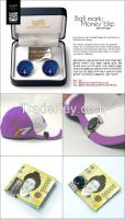 Money Clip Golf Ball Marker Set with Mother of Pearl Peacock Design , Korean Traditional Handicraft Gift