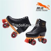 Flying Tigers Quad Roller Skates FT520 Black Classic For Outdoor Skating That Is Comfortable- stylish- and Durable