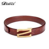 High-end Custom Genuine leather alligator belt, crocodile skin belt