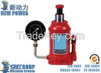 10T-20T Vertical Hydraulic Jack MH Pressure Gauge Jack Oil Pressure Ja
