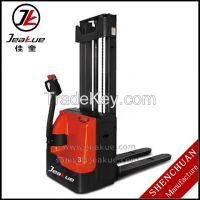 Hot Sale 1.2T Side Driving Double Lifting Container Electric Stacker widely used in warehouse/factory/supermarket