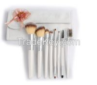 Make-up Brush Set With Pouch Pink Color