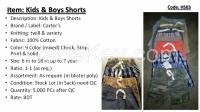 Kid's Shorts