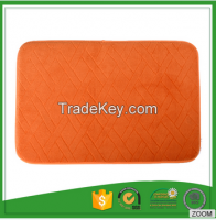 Traditional Embossed Memory Foam Design Washable Mats