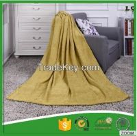 100% Polyester jacquard  coral fleece blanket