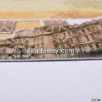 Heat transfer printing best bath mat with anti slip pvc backing