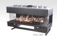 Venezia 3 sided Gas fireplaces built-in insert