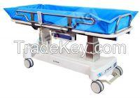 medical transport trolley for electrical shower