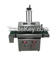 Aluminum foil lid sealing machine