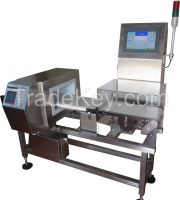 online combined metal detector and checkweigher for food product