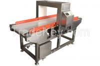 Conveyor belt metal detector for food product (brushed steel)