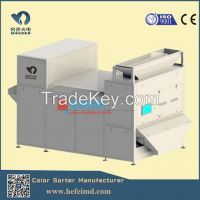 Double layer belt-type plastic flakes color sorting machine in factory price