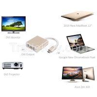 USB 3.1 Type C�USB-C) M to DVI F Converter Cable--Aluminum Case