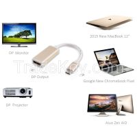 USB 3.1 Type C�USB-C) M to DP F Converter Cable--Aluminum Case