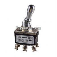 T7 Series (T7A22PAB4H2R) 15a 125v ac, 10a 250vac heavy duty toggle switch with spst/spdt/dpst/dpdt