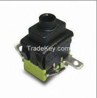 PS5-21C-HGBB 16a, 250v ac dpst/spst low profile main power switches, cleat or snap in 13 x 19mm, push button switch, pushbutton switch
