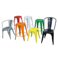 Chair and stool,Whole steel dining chair for outdoor and indoor use