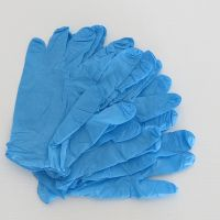 Wholesale Blue Powder Free Nitrile Gloves With High Quality Disposable NItrile gloves