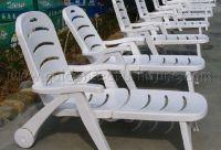 Folded Plastic sunbed for swimming pool Hotel resort furniture