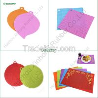 Hot sale customized FDA approved silicone coaster