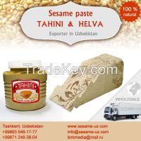 Sweet halva from tahini, Sesame halva