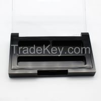 Plastic eye shadow powder case