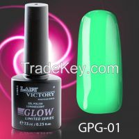 Lady Victory Hot Sale High Quality Private Label Luminescent Glow In The Dark Gel Nail Polish - GPG 7, 3 ML